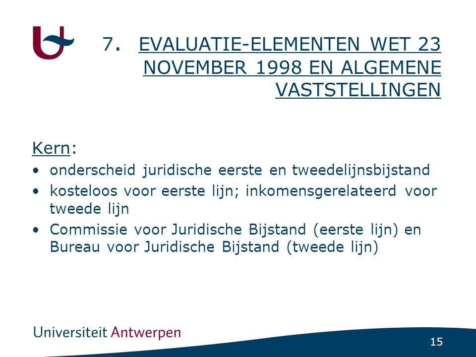 Evaluatie-elementen: