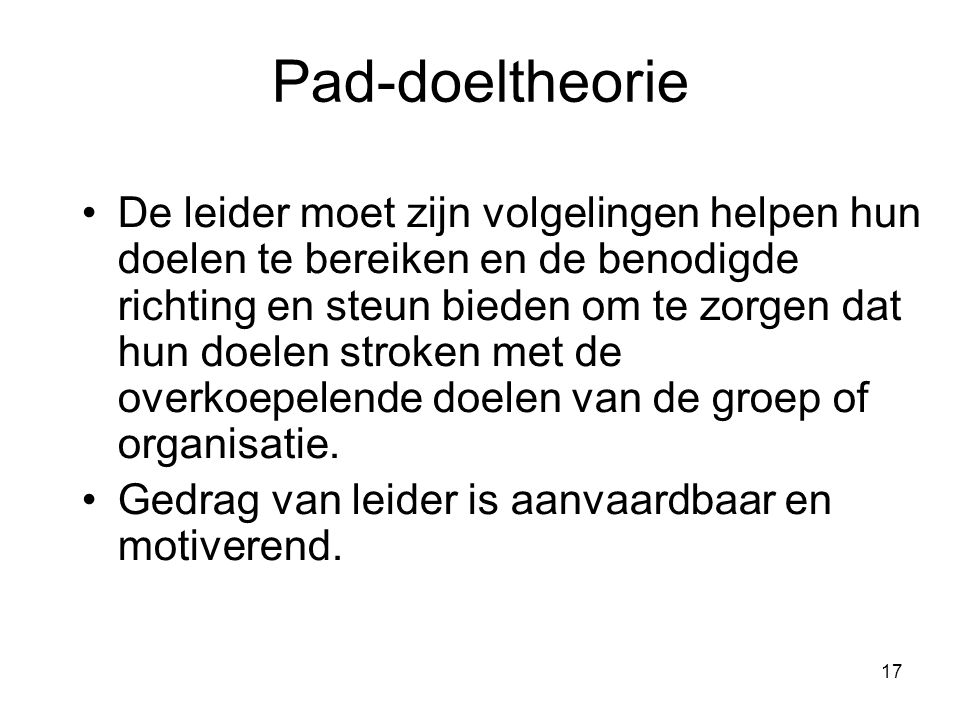 Pad-doeltheorie