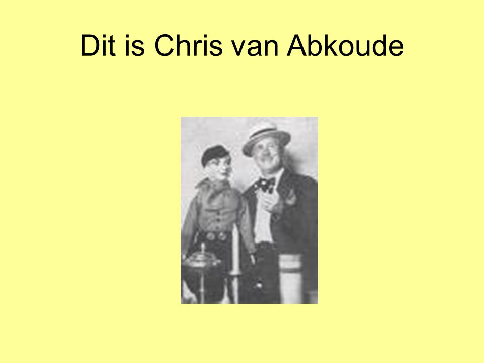 Dit is Chris van Abkoude