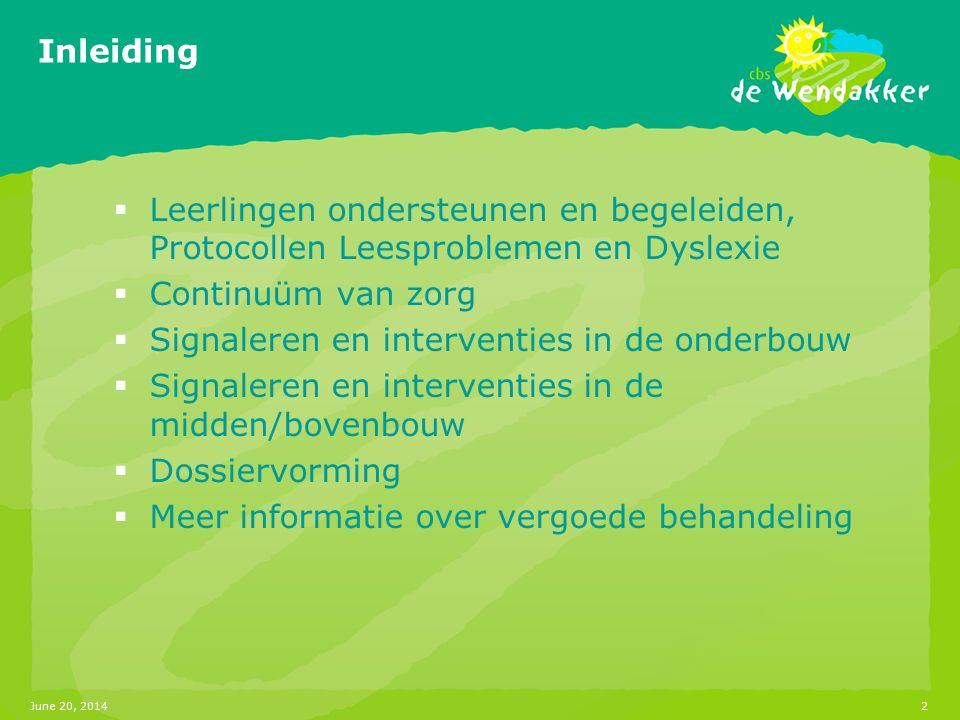 Signaleren en interventies in de onderbouw