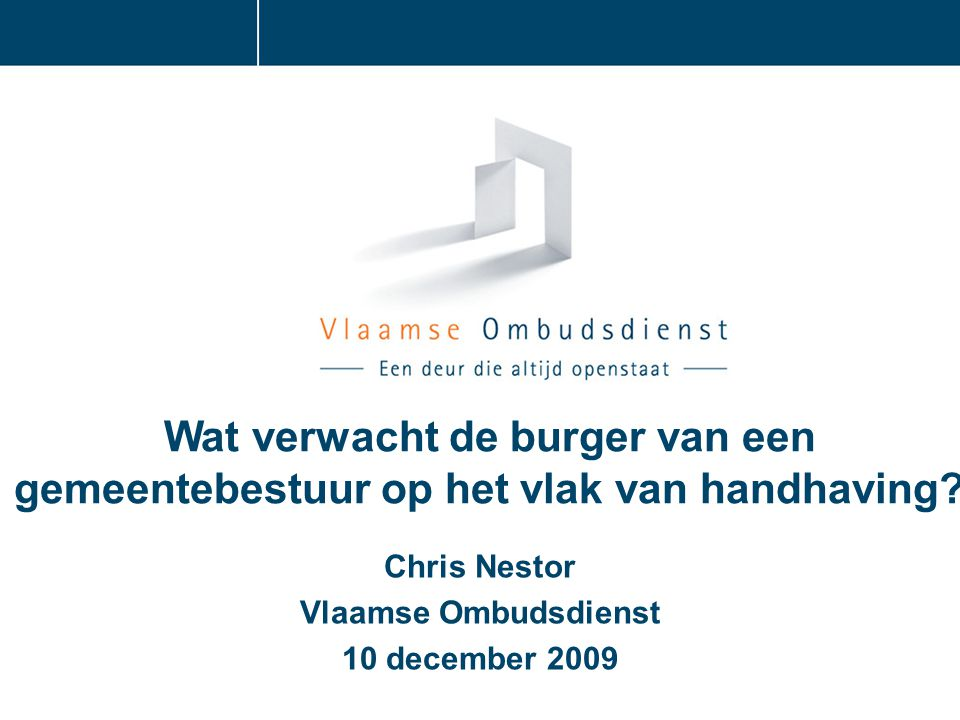 Chris Nestor Vlaamse Ombudsdienst 10 december 2009