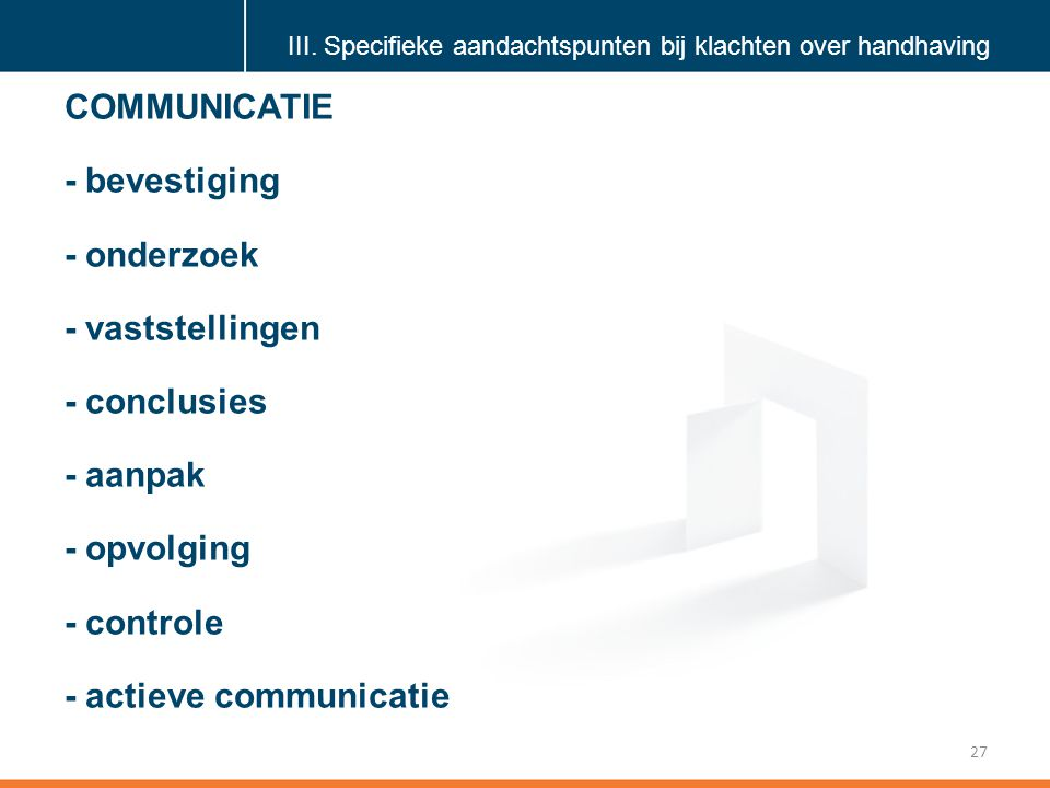 COMMUNICATIE - bevestiging