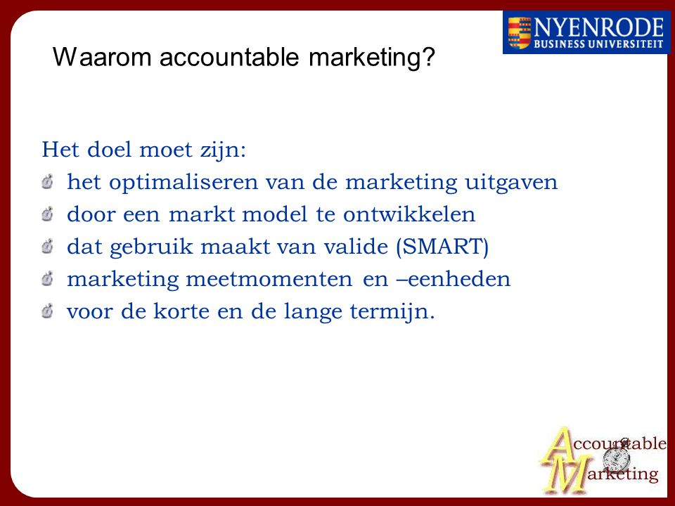 Waarom accountable marketing