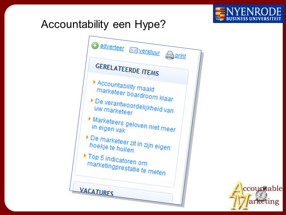Accountability een Hype