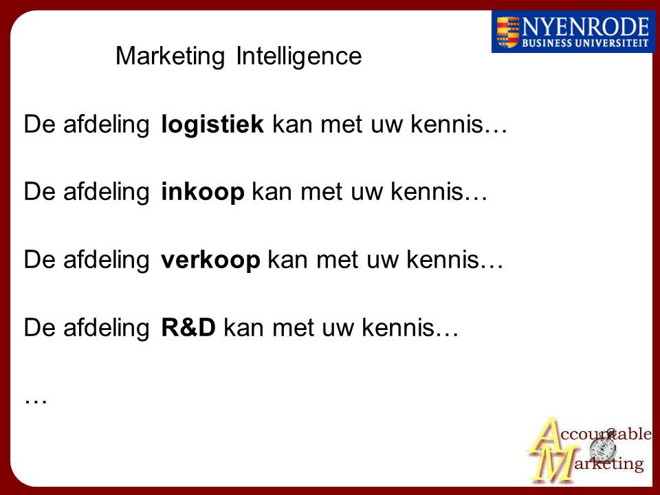 Marketing Intelligence