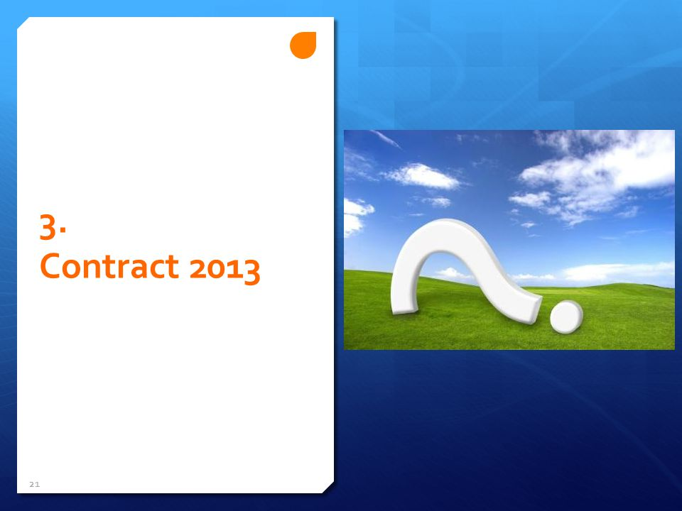 3. Contract 2013