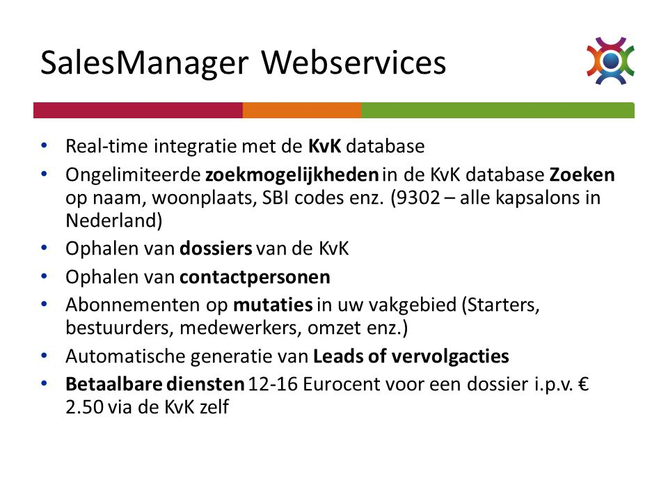 SalesManager Webservices