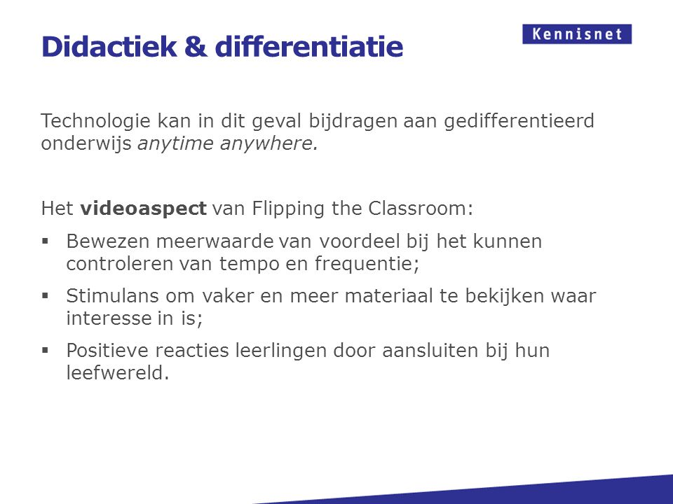 Didactiek & differentiatie