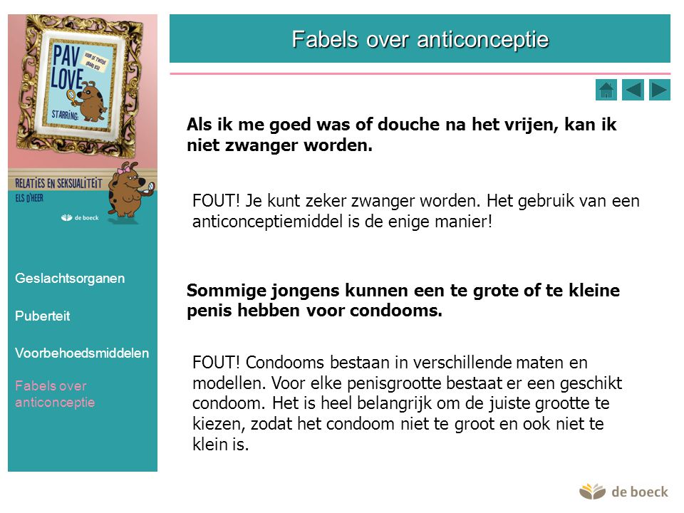 Fabels over anticonceptie