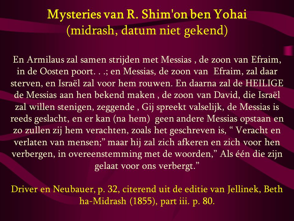 Mysteries van R. Shim on ben Yohai