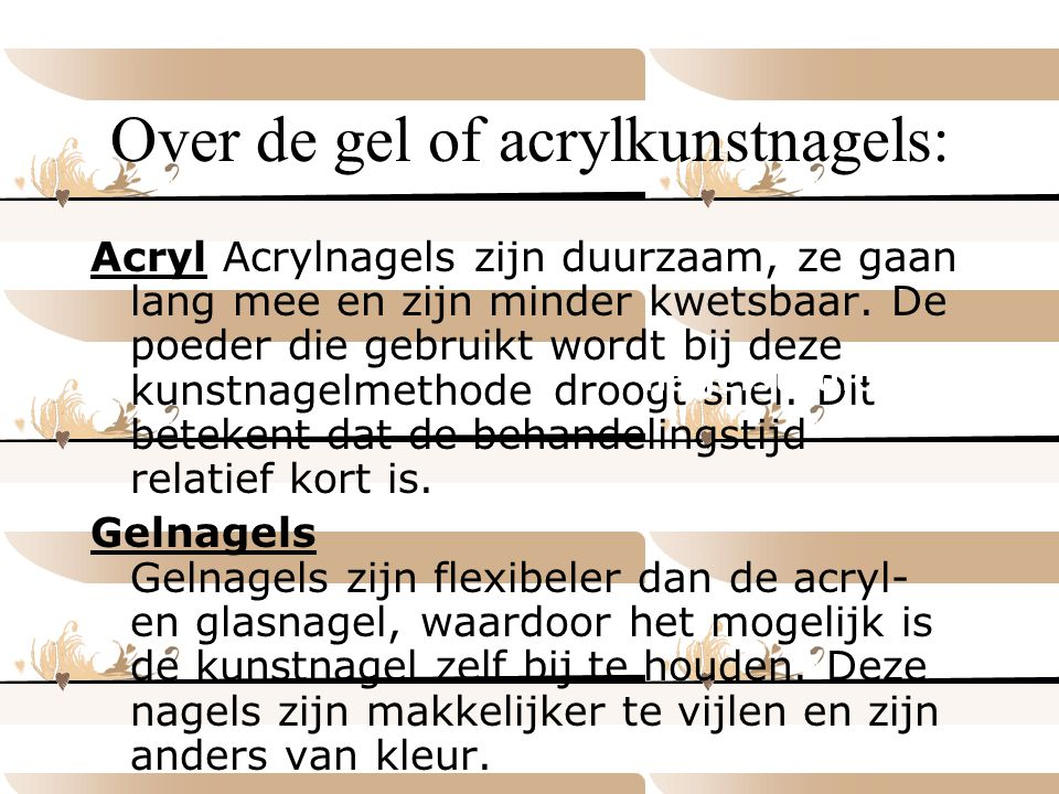Over de gel of acrylkunstnagels: