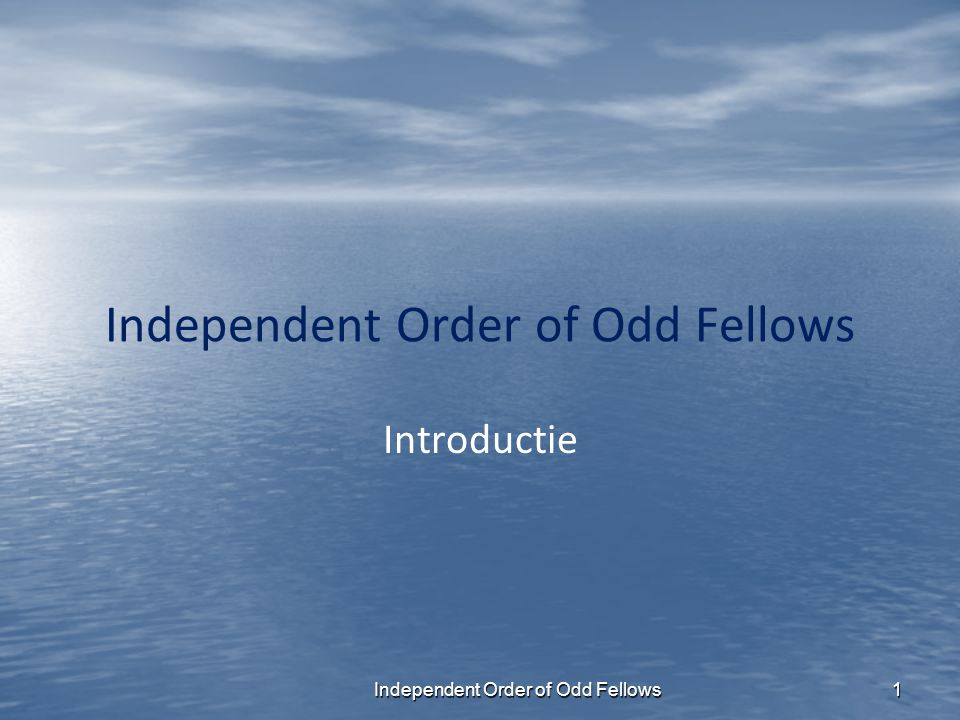 Independent Order of Odd Fellows