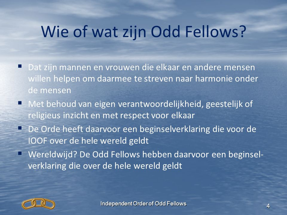 Wie of wat zijn Odd Fellows