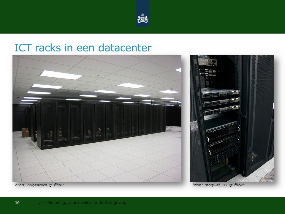 ICT racks in een datacenter