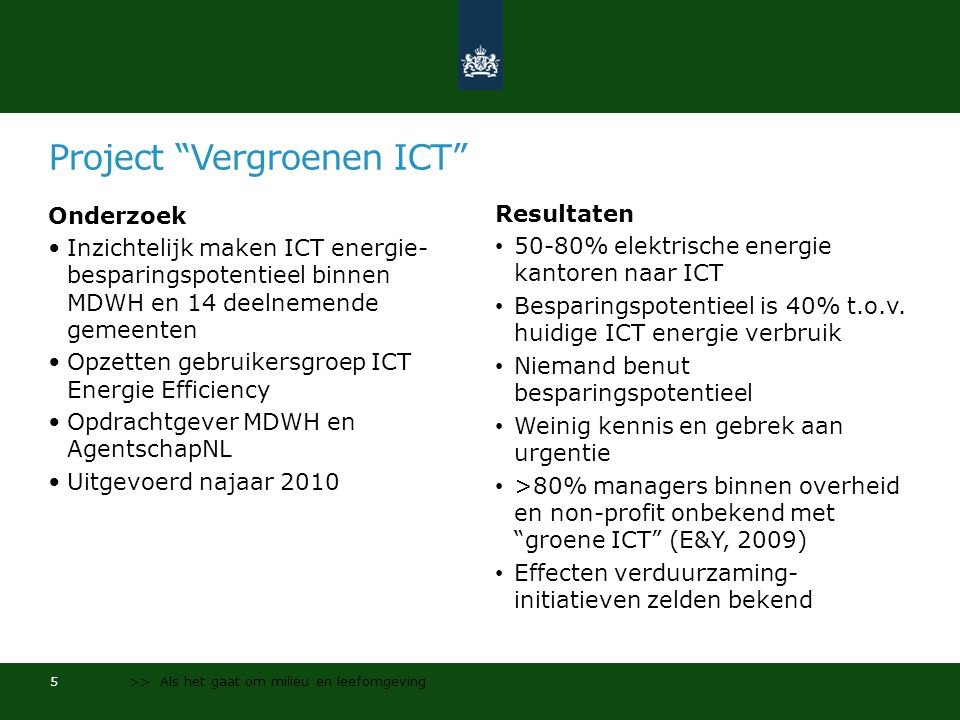Project Vergroenen ICT