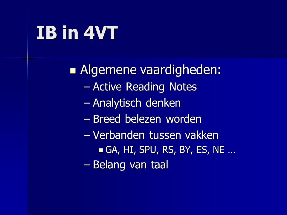 IB in 4VT Algemene vaardigheden: Active Reading Notes