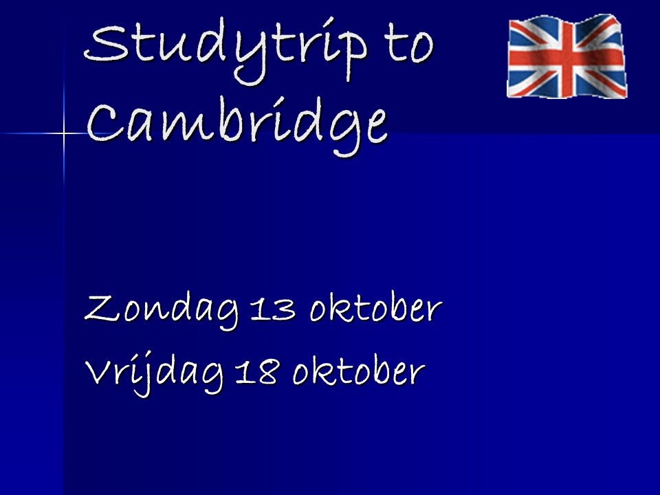 Studytrip to Cambridge