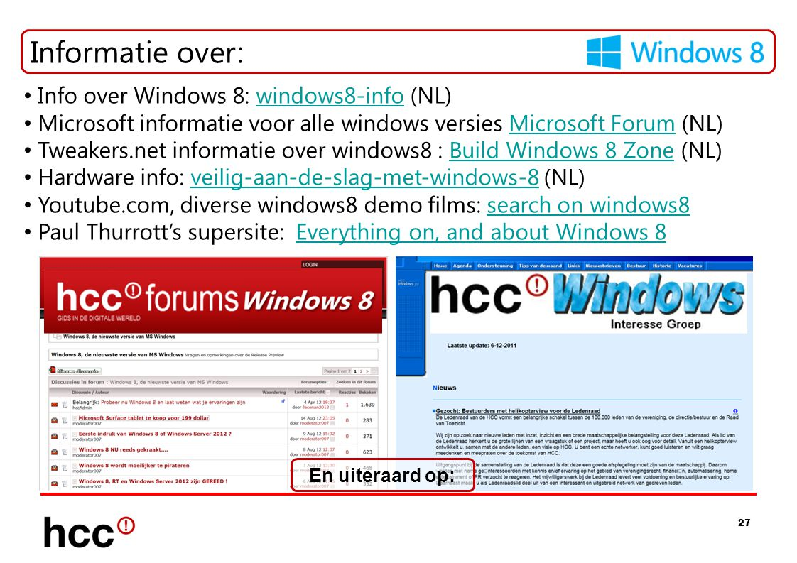 Informatie over: Info over Windows 8: windows8-info (NL)