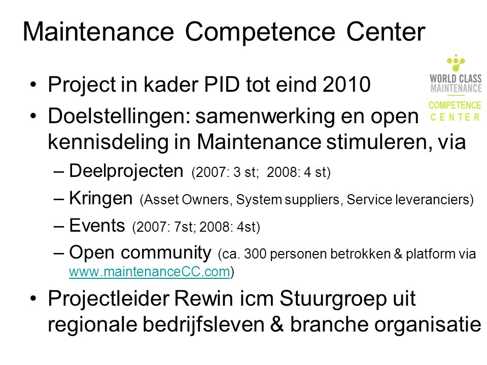 Maintenance Competence Center