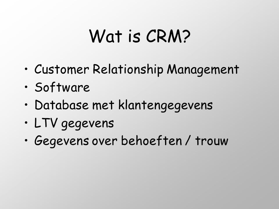 Wat is CRM Customer Relationship Management Software