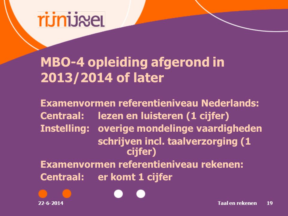 MBO-4 opleiding afgerond in 2013/2014 of later