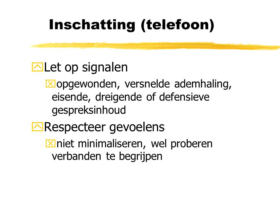 Inschatting (telefoon)