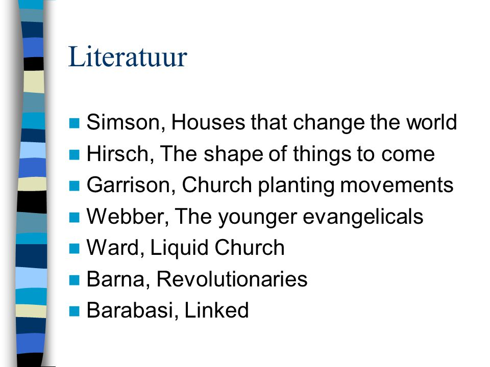 Literatuur Simson, Houses that change the world