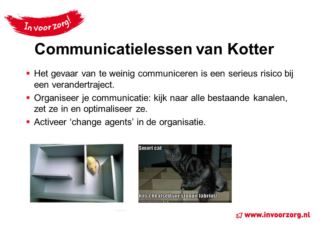 Communicatielessen van Kotter