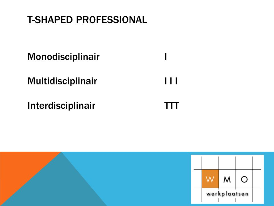 T-shaped professional