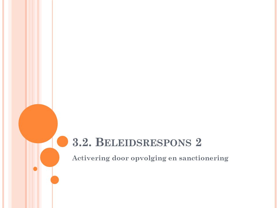 3.2. Beleidsrespons 2 Activering door opvolging en sanctionering