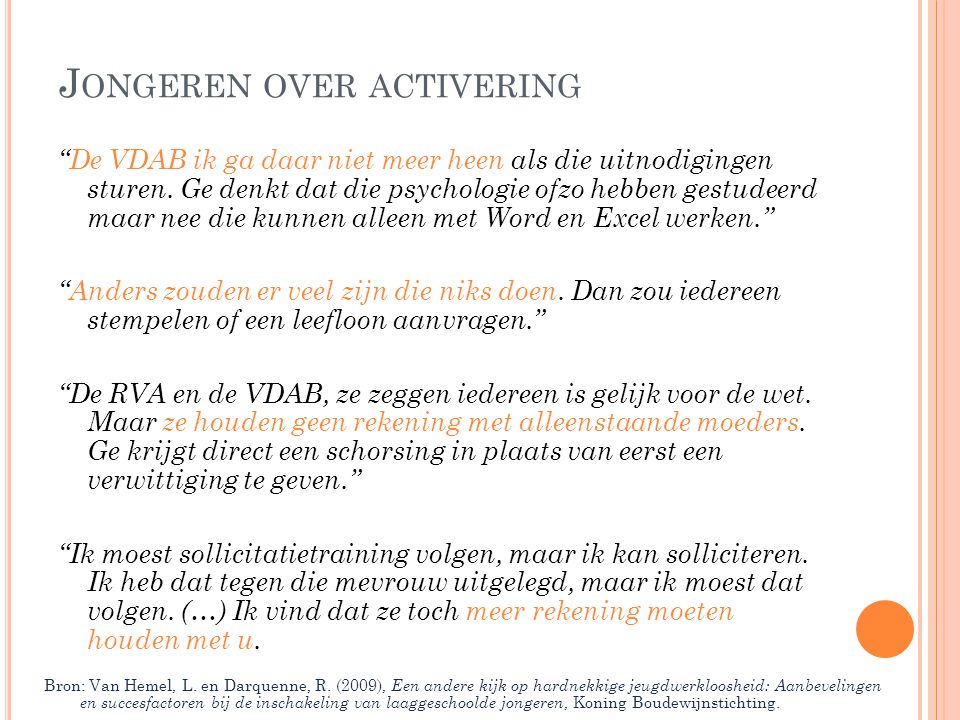 Jongeren over activering