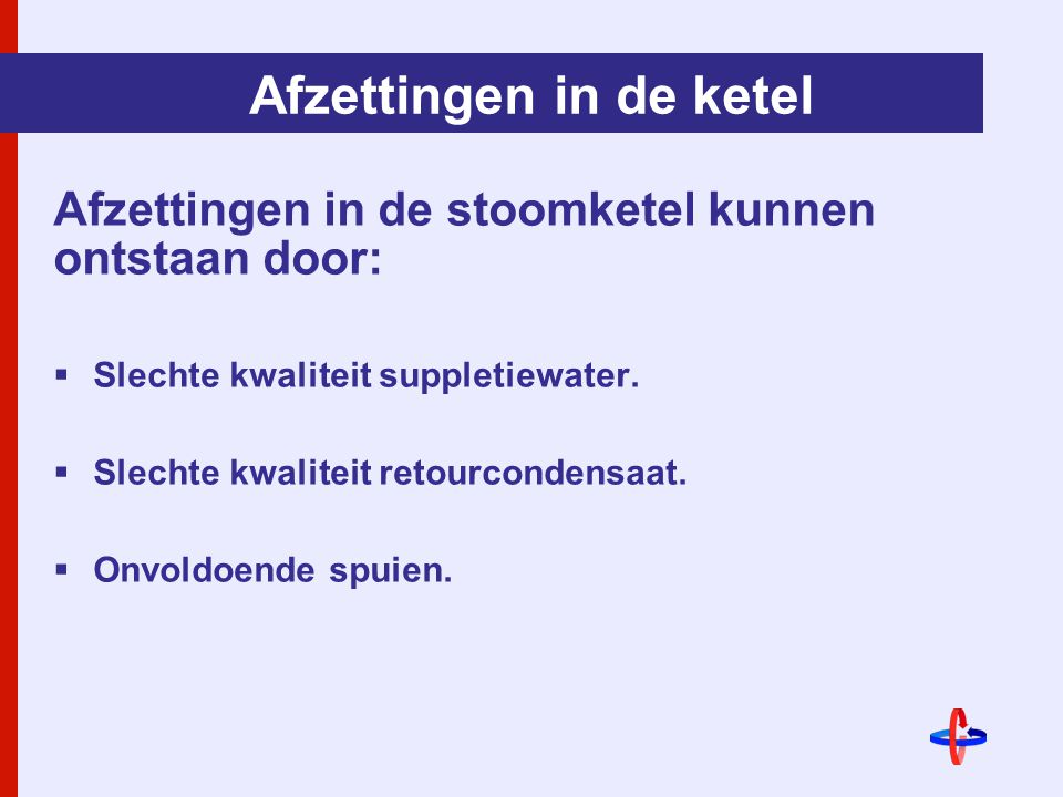 Afzettingen in de ketel
