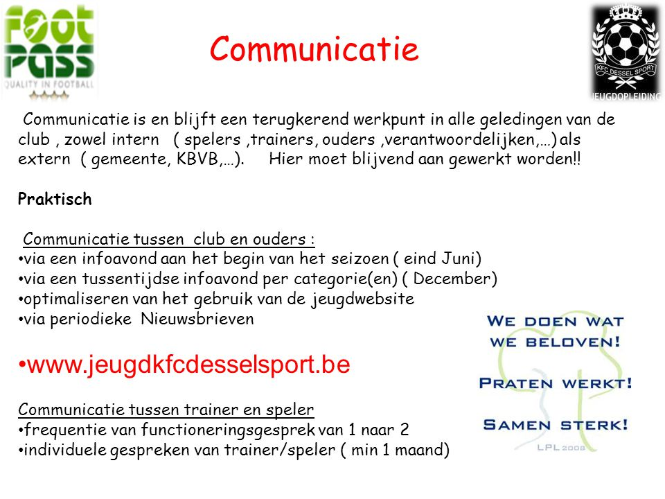 Communicatie www.jeugdkfcdesselsport.be