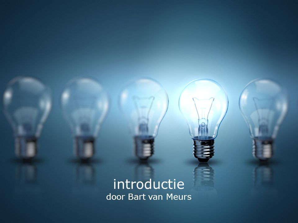 introductie door Bart van Meurs ideality / elevator pitch