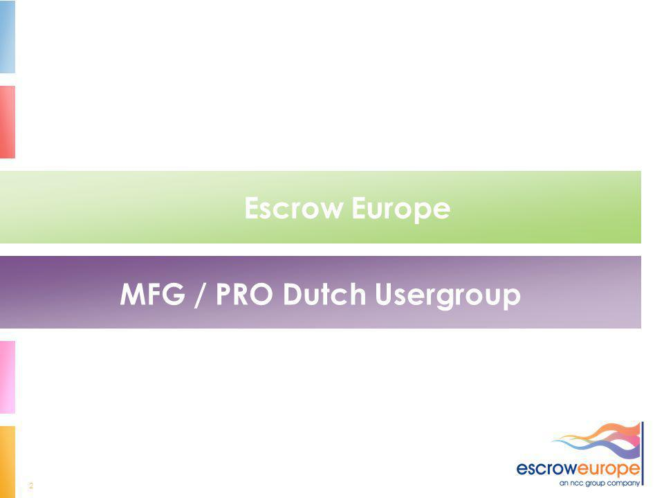 MFG / PRO Dutch Usergroup