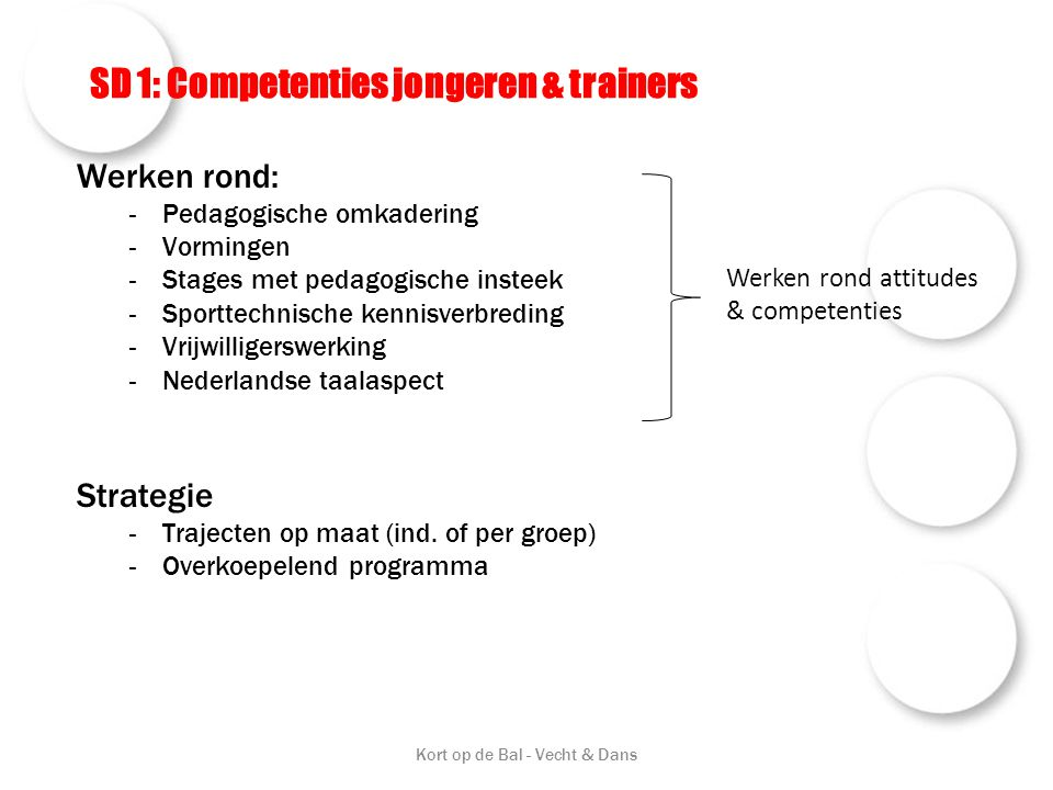 SD 1: Competenties jongeren & trainers