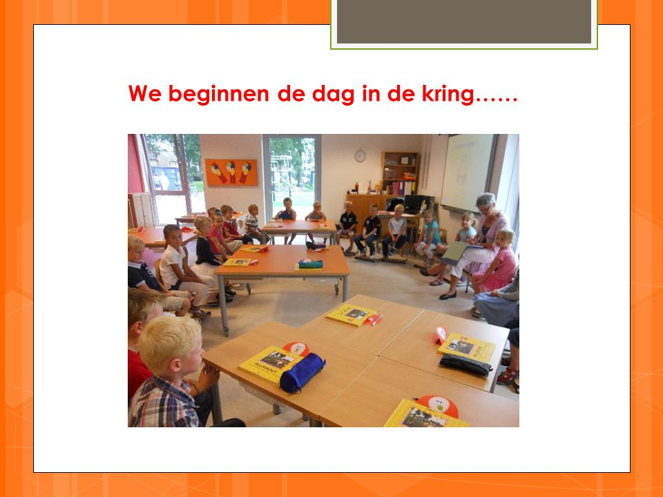 We beginnen de dag in de kring……