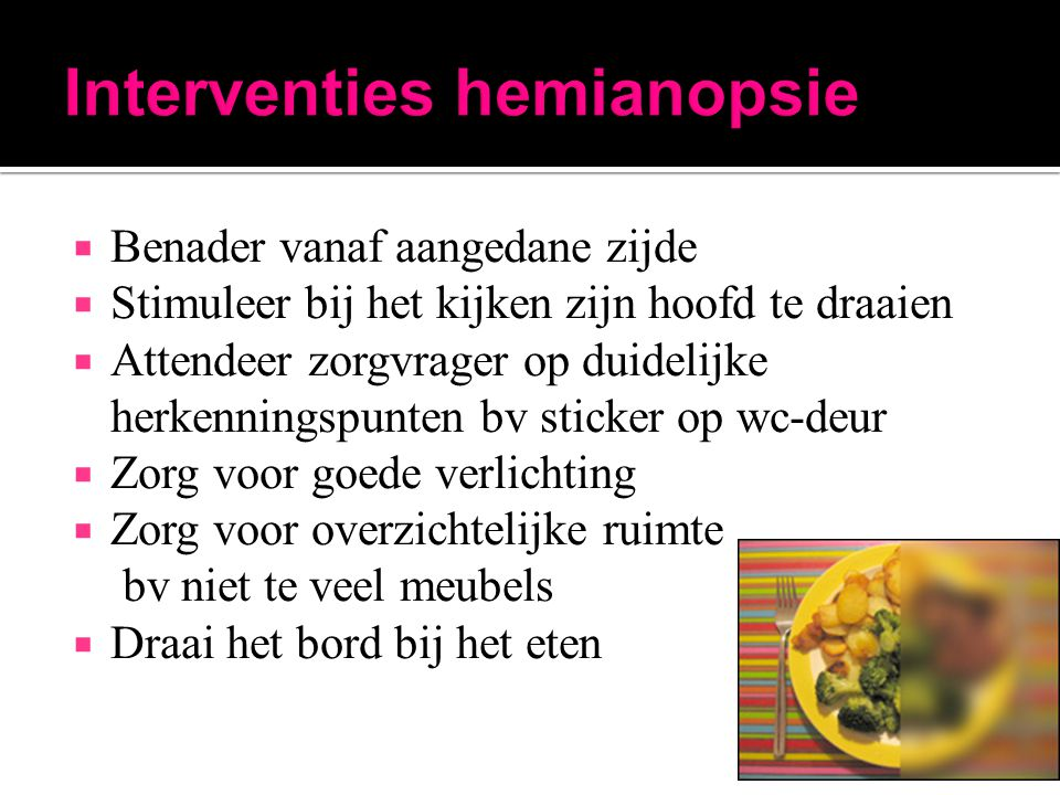 Interventies hemianopsie