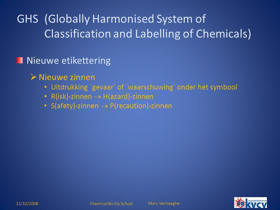 GHS (Globally Harmonised System of Classification and Labelling of Chemicals)