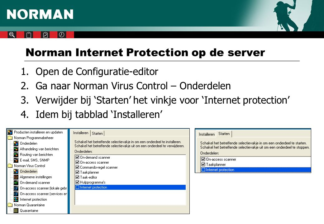 Norman Internet Protection op de server