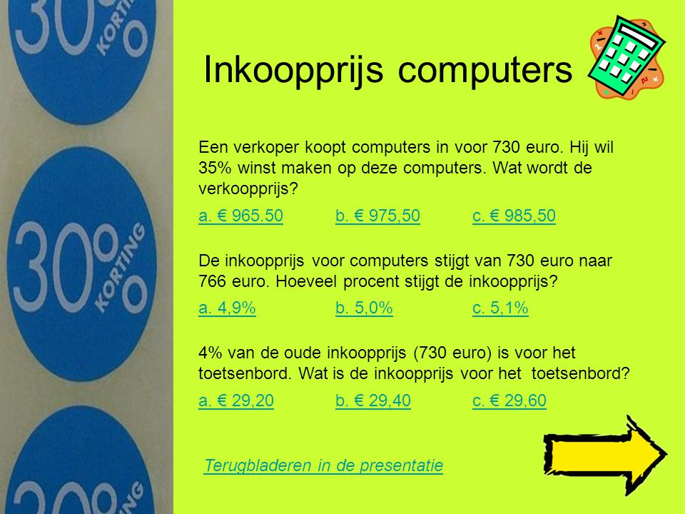 Inkoopprijs computers