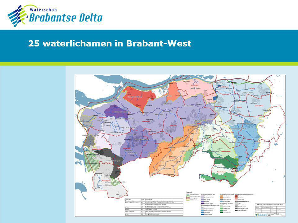 25 waterlichamen in Brabant-West