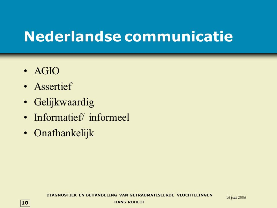Nederlandse communicatie