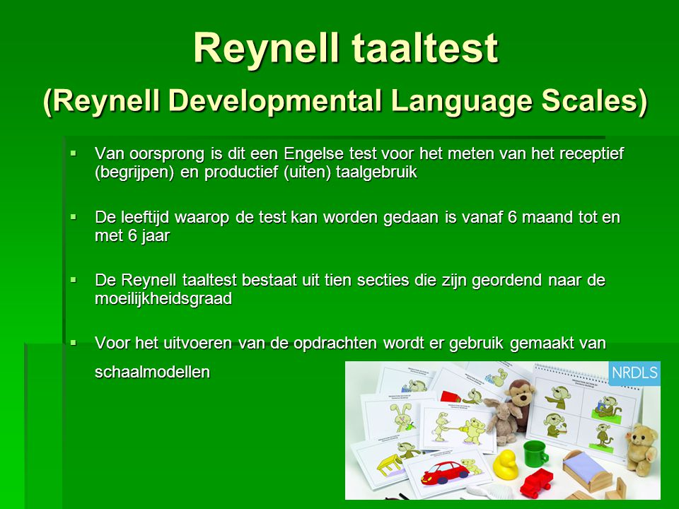 Reynell taaltest (Reynell Developmental Language Scales)
