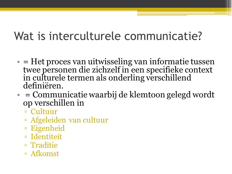 Wat is interculturele communicatie