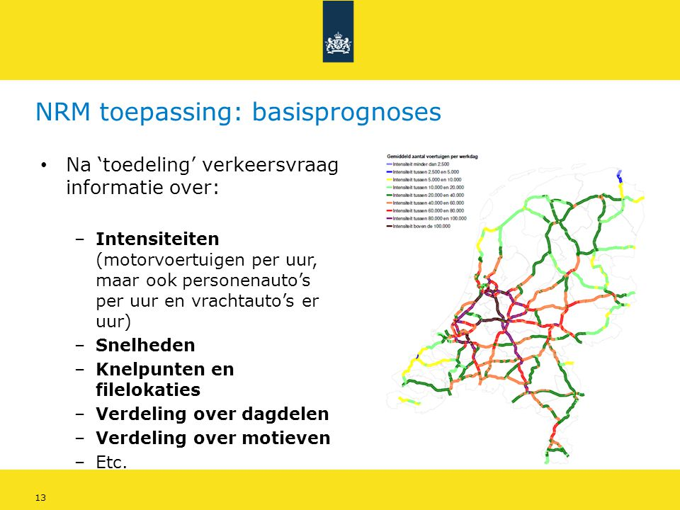 NRM toepassing: basisprognoses