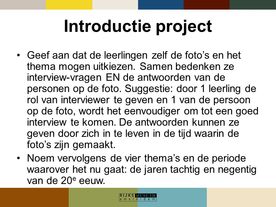 Introductie project
