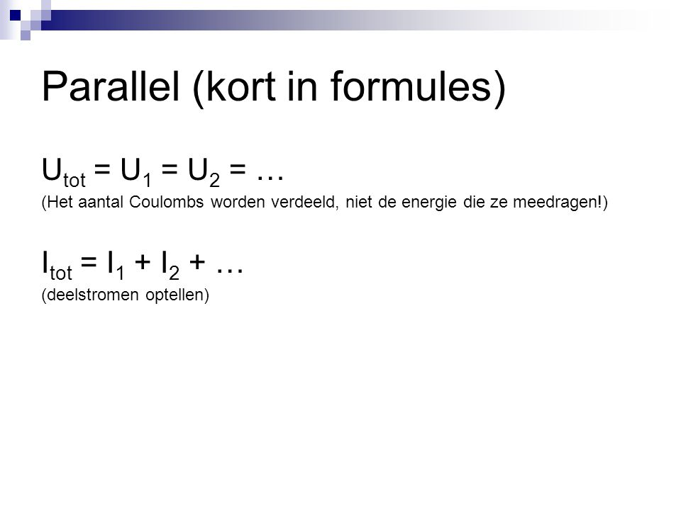Parallel (kort in formules)