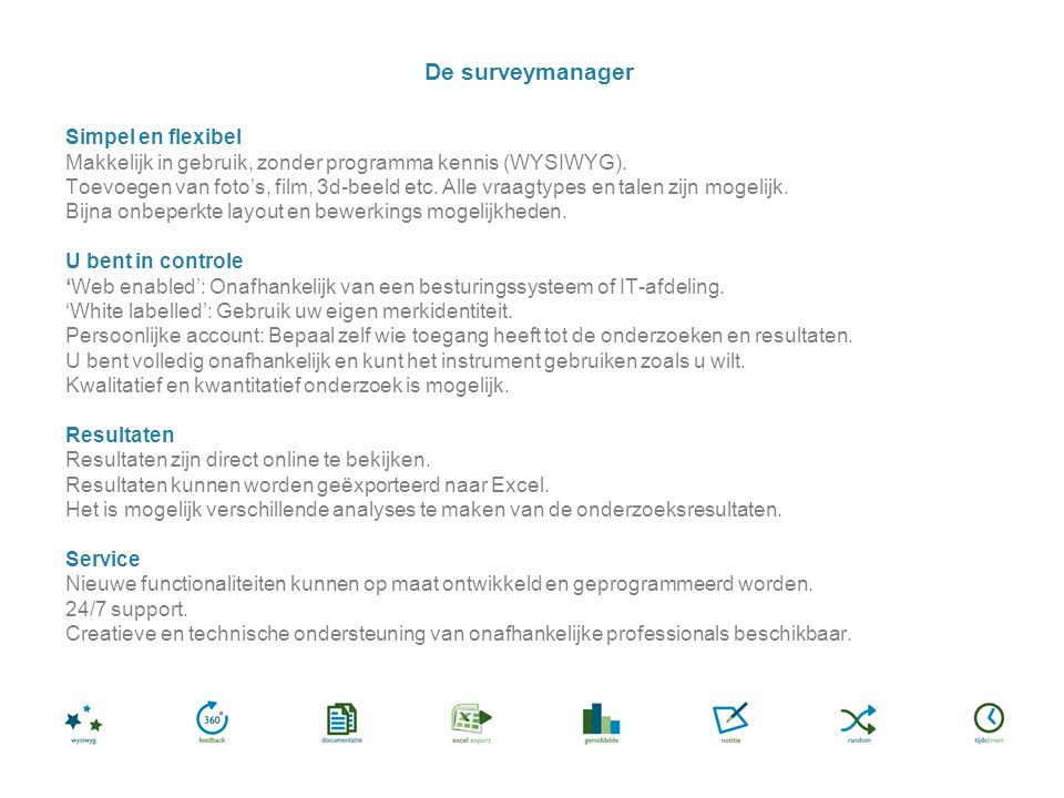 De surveymanager