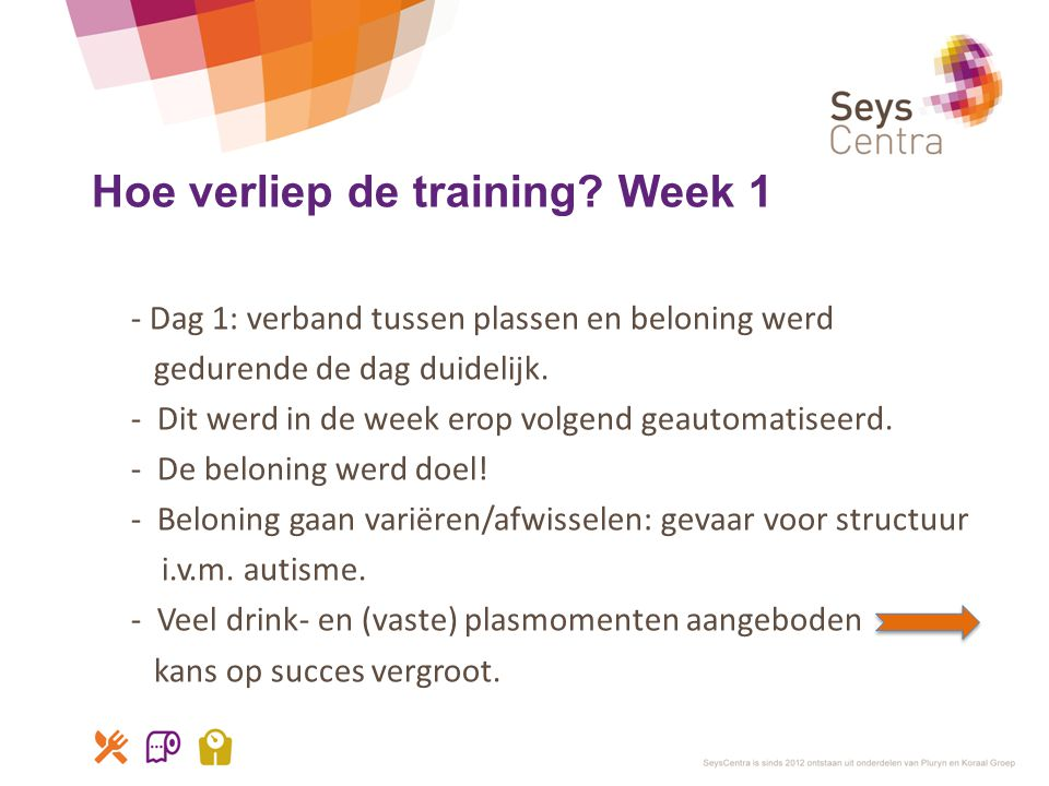 Hoe verliep de training Week 1